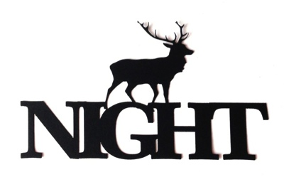 Stag Night Scrapbooking Laser Cut Title with stag