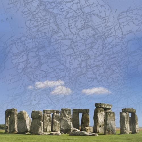 Stonehenge 12x12 Scrapbooking Paper