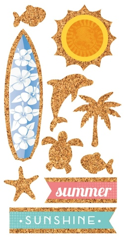Sunshine Cork Scrapbooking Stickers