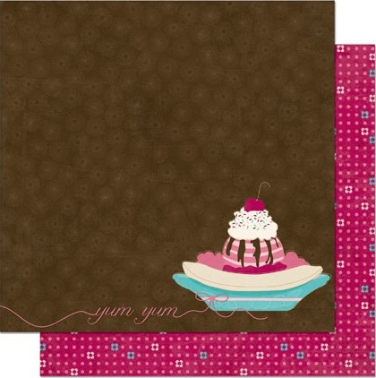 Sweet Tooth Dessert Double Sided 12x12 Scrapbooking Paper