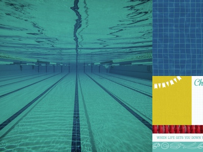 Swimming Athlete 12x12 Double Sided Scrapbooking Paper