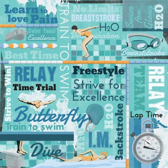 Swimming pool scrapbooking paper scrapbook stickers for Swimming pool quotes