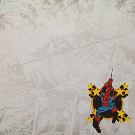 Swinging Spiderman 12x12 Scrapbooking Paper