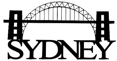 Sydney Scrapbooking Laser Cut Title with Bridge