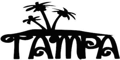 Tampa Scrapbooking Laser Cut Title With Palm Trees