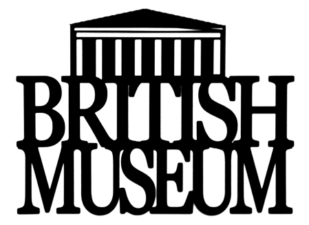 British Museum Scrapbooking Laser Cut Title with Building