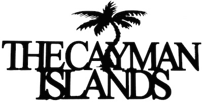 The Cayman Islands Scrapbooking Laser Cut Title with Palm Tree