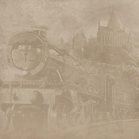 Harry Potter Hogwarts Express 12x12 Scrapbooking Paper