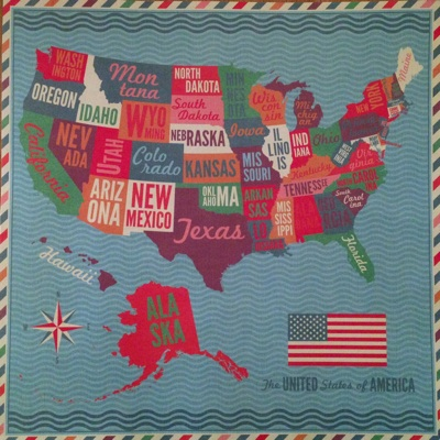 Physical Map United State America