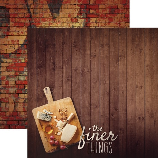 The Finer Things 12x12 Double Sided Scrapbooking Paper