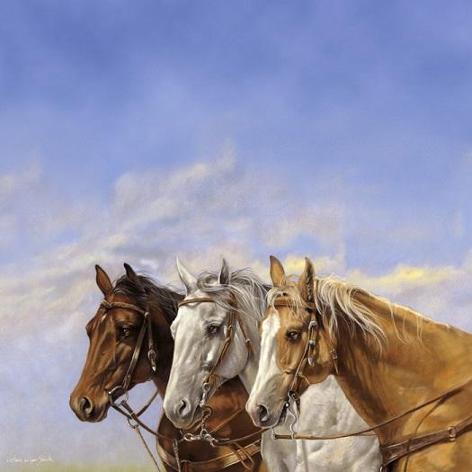 Three Horses 12x12 Scrapbooking Paper