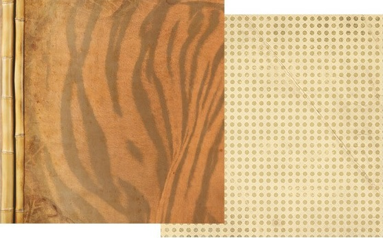 Tiger Pattern 12x12 Double Sided Scrapbooking Paper