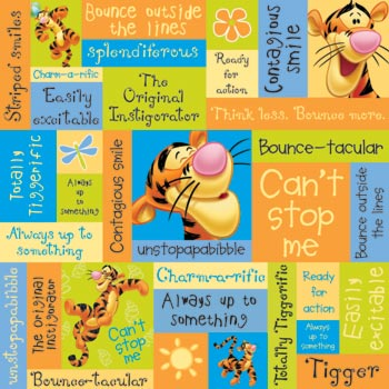 Tigger Phrases 12x12 Scrapbooking Paper