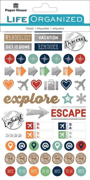 Travel Memories Scrapbooking Sticker Multi Pack - 4 Sheets