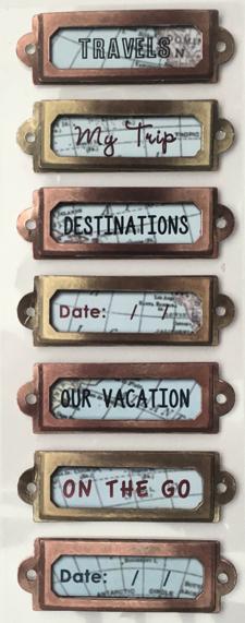 Travel Titles 3D Scrapbooking Stickers