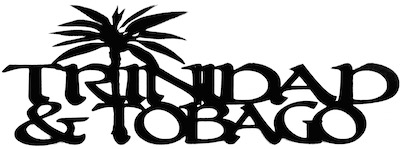 Trinidad and Tobago Scrapbooking Laser Cut Title With Palm Tree