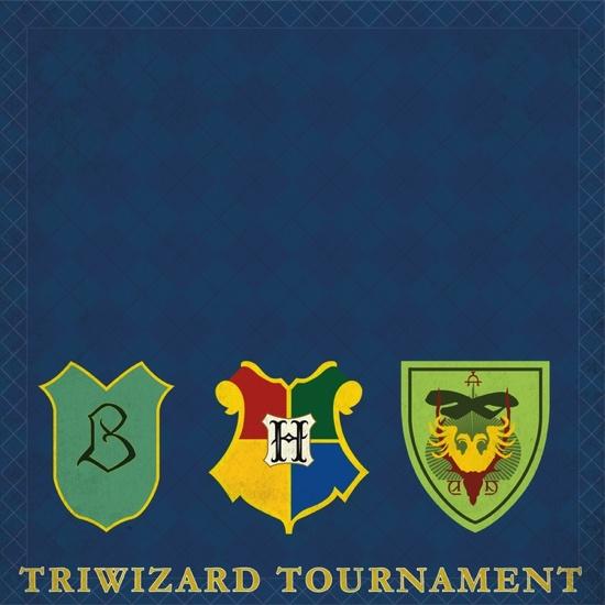 Harry Potter Triwizard Tournament 12x12 Scrapbooking Paper