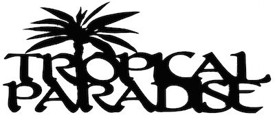 Tropical Paradise Scrapbooking Laser Cut Title with Palm Tree
