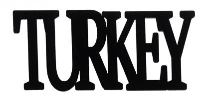 Turkey Scrapbooking Laser Cut Title
