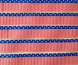 USA Stars and Stripes Self Adhesive Scrapbooking Ribbon