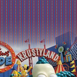 Universal Krustyland Simpsons 12x12 Scrapbooking Paper