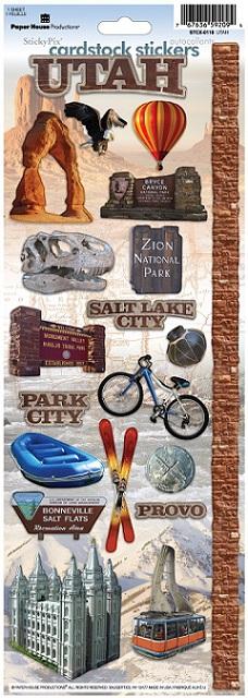 Utah Cardstock Scrapbooking Stickers