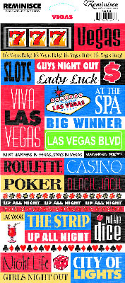 Las Vegas Quotes Cardstock Scrapbooking Stickers