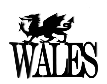 Wales Scrapbooking Laser Cut Title with Dragon