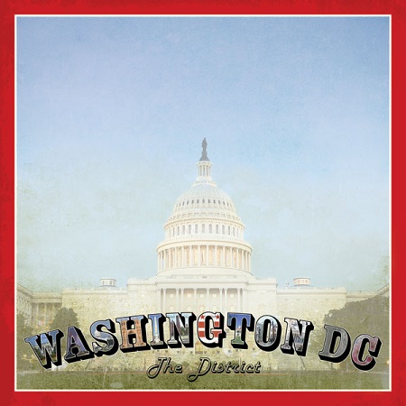 Washington DC Vintage 12x12 Scrapbooking Paper
