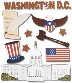 Destination Washington Jolees 3D Scrapbooking Stickers