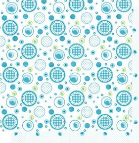 Water Fun Circles 12x12 Double Sided Glittered Scrapbooking Cardstock