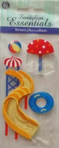Water Park 3D Handmade Essentials Scrapbooking Stickers