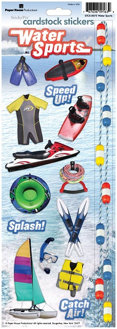Water Sports Cardstock Scrapbooking Stickers