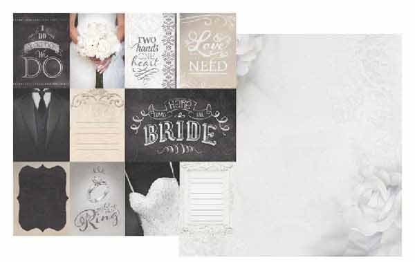 Wedding Journaling 12x12 Double Sided Scrapbooking Paper
