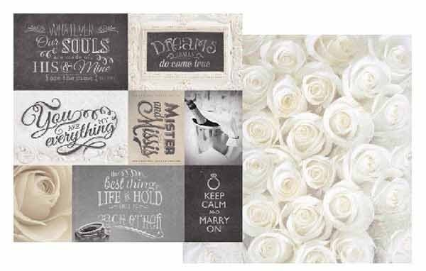 Wedding Patchwork 12x12 Double Sided Scrapbooking Paper