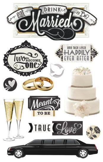 Wedding 3D Scrapbooking Stickers