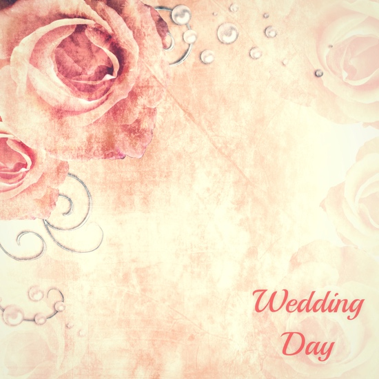 wedding day 12x12 scrapbooking paper