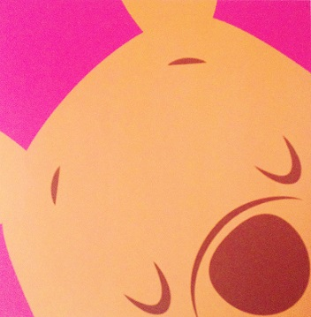 Winnie The Pooh Face 12x12 Scrapbooking Paper