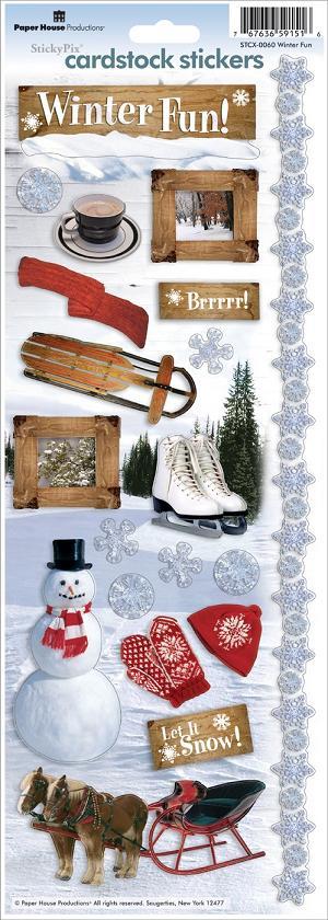 Winter Fun Cardstock Scrapbooking Stickers