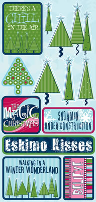 Winter Icons Cardstock Scrapbooking Stickers