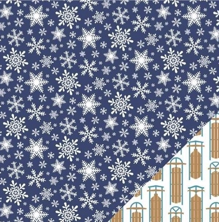 Snowflakes 12x12 Double Sided Scrapbooking Paper