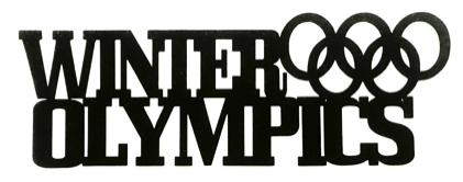 Winter Olympics Scrapbooking Laser Cut Title with Rings