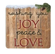 Joy Peace and Love Die Cut Scrapbooking Sticker