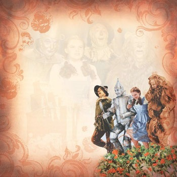 Wizard of Oz Scrapbook Paper