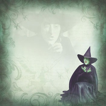 Wizard of Oz Wicked Witch 12x12 Scrapbooking Paper