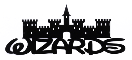 Wizards Scrapbooking Laser Cut Title with Castle
