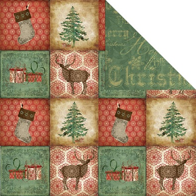Woodland Quilt Double Sided 12x12 Scrapbooking Paper