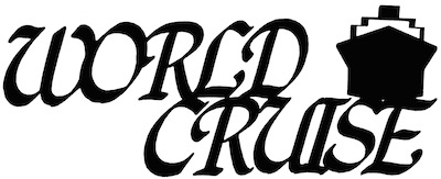 World Cruise Scrapbooking Laser Cut Title with Cruise Ship