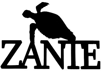Zante Scrapbooking Laser Cut Title with Turtle