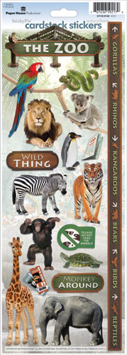 Zoo Cardstock Scrapbooking Stickers
